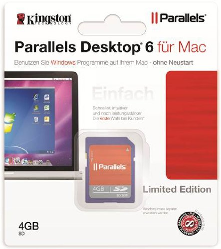 Parallels Vollversion Parallels Desktop for Mac/v6.0/Deutsch SD Karte