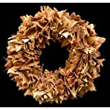 Exotic Creations Browny Forest -Dried flower wreath(Natural,L=40 cm X W=40 cm X D= 40 cm)