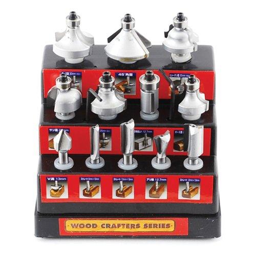 ウッドクラフター 超硬ルータービットセット TRB-12S