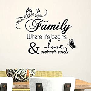 Family Where Life Begins Love Never Ends Quotes and