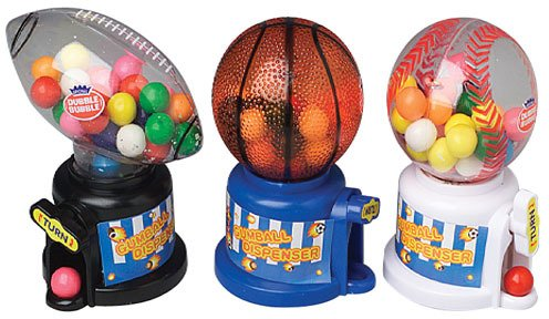 Sports Gumball Machines With Gum (24 Pieces) - Sports Gumball Machines With Gumsports Gumball Machines Are Perfect For Any Sports Lover. The Gumball Machines Are Also A Perfect Giveaway At A Sports T