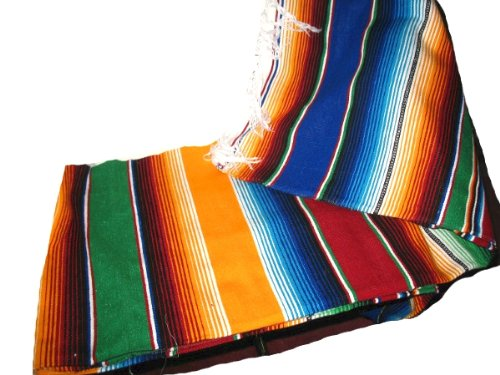 Check Out This Large Authentic Mexican Blankets Colorful Serape Blankets Orange