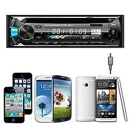 Car Audio Receiver ,Qisc Car Audio Stereo In-Dash FM DVD CD MP3 Player Receiver USB SD AUX Input