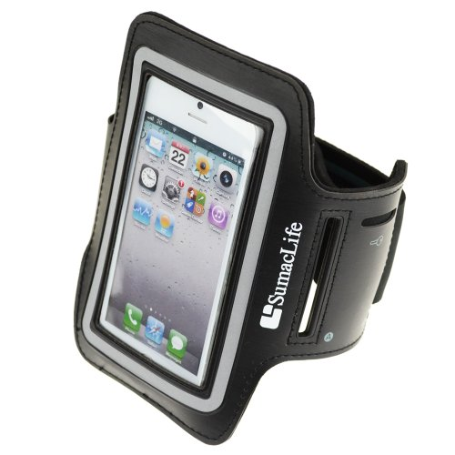 Sumaclife Sporty Armband With Key Holder For Iphone 5 / Iphone 5S / Iphone 5C (At&T,T-Mobile,Verizon,Sprint) / Ipod Touch 5 (Black)