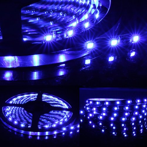 5M Meter 16 Ft Feet Roll 3528 Smd Led 300 Leds Waterproof Flexible Light Strip - Blue