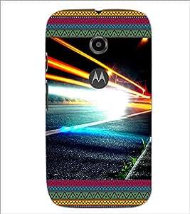 Printdhaba Lightening D-4642 Back Case Cover For Motorola Moto E2
