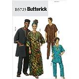 Butterick Patterns B5725 Misses'/Men's Tunic, Caftan, Pants, Hat and Head Wrap, Size XN (XLG-XXL-XXXL)