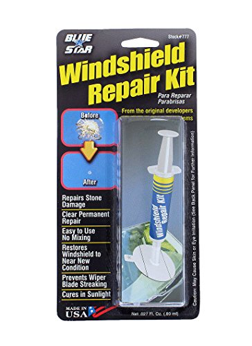 Blue-Star Fix your Windshield Do It Yourself Windshield Repair Kit, Made in USA (Glass Crack Repair Resin compare prices)
