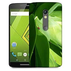 Snoogg Big Leaves Designer Protective Phone Back Case Cover For Lenovo Motorola Moto G4