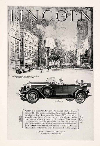 1927 Ad Lincoln Touring Car Transportation Motor Vehicle Detroit Michigan Street - Original Print Ad (Car Washing Street compare prices)
