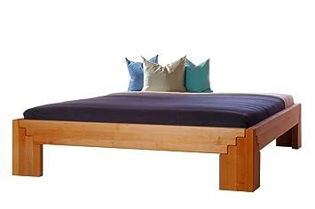 Massivholzbett BETA Erle metallfrei, Größe:140 x 200 cm;Holzart:Erle natur geölt