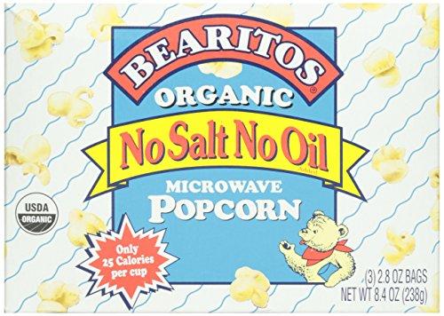 Bearitos Organic Microwave Popcorn, No Salt Or Oil - 3 Pk.