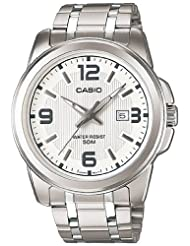 Casio Measures-Seconds Analog White Dial Men's Watch MTP-1314D-7AVDF