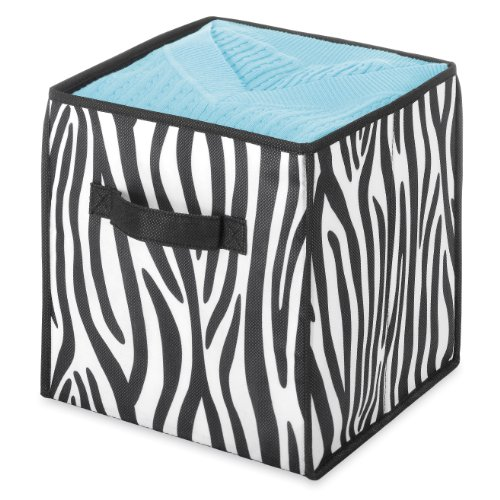 Whitmor-6085-907-Collapsible-Cube-10-Inch-Zebra