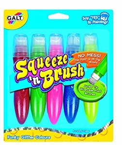 Galt Toys Squeeze and Brush 5 Glitter Colours