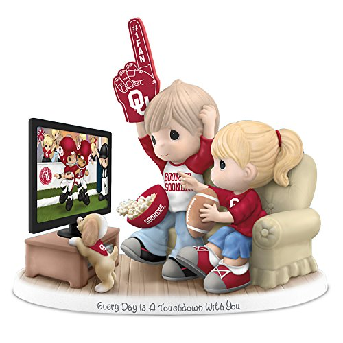 Every Day Is A Touchdown With You Oklahoma Sooners Precious Moments Figurine by The Hamilton Collection