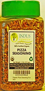 Indus Organic Pizza/italian Seasoning Spice, 4 Oz Jar, Salt Free, Freshly Packed