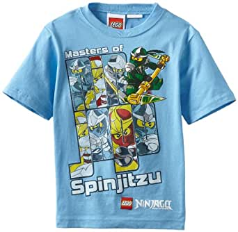 Lego Ninjago Little Boys' Short Sleeve Tee, Blue, 7