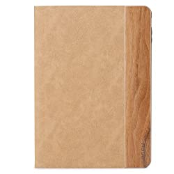 ROCK Woody Series Wood + Leather Smart Awakening Stand Protective Case for Apple iPad Air