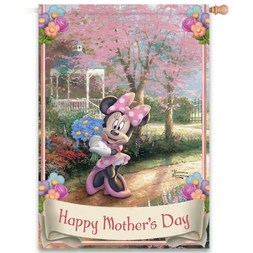 disneys-minnie-mouse-happy-mothers-day-flag-with-flower-filled-thomas-kinkade-art-by-the-hamilton-co