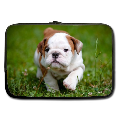 Specially Designed 13 Inch Bulldog Puppy Theme Portable Laptop Carrying Case Sleeve Bag for Macbook, Macbook Air/Pro 13