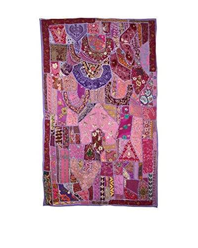 Uptown Down One-of-a-Kind Panel of Vintage Tribal Collars, Fuchsia