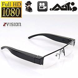 ZVision Full HD 1080P Glasses Eyewear Spectacles Spy Camera Half Frame Hidden Cam Video Camcorder