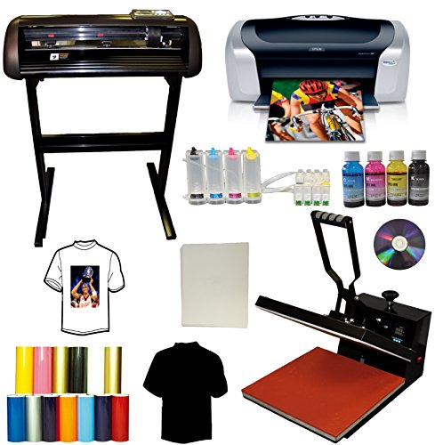 15x15 Heat Transfer Press,Vinyl Cutter Plotter,Printer+CISS+Ink,Tshirt (Manual Tile Cutter 24 Inch compare prices)