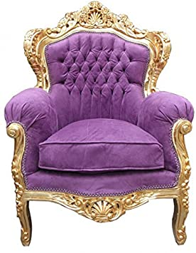 Baroque Armchair 'King' Mod 2 Purple / Gold antique style furniture