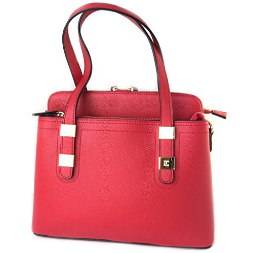 Bag designer 'Ted Lapidus'red (3 scomparti)- 33x25x15 cm.