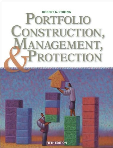 Portfolio Construction, Management, and Protection (text only)5th (Fifth) edition by R. A. Strong (Protection Portfolio compare prices)