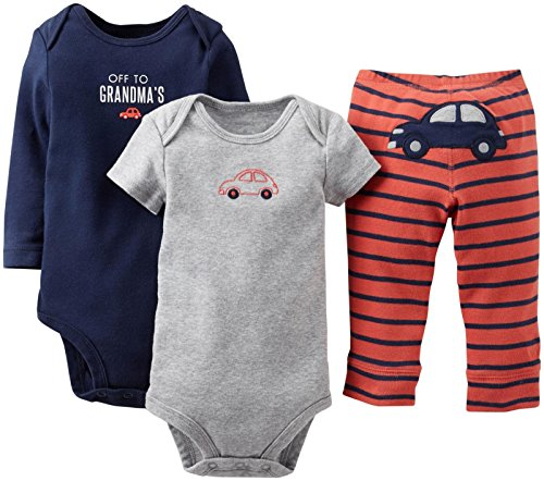 "Carter'S Baby Boys' 3 Piece ""Take Me Away"" Set (Baby) - Off 2 Grandmas - Navy - 18 Months front-210955"