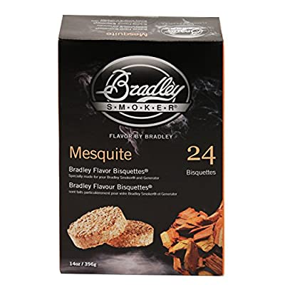 Bradley Smokers BTMQ24 Mesquite Flavored Banquettes Smokers, 24-Pack from Bradley Smokers