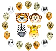 Safari Jungle Zoo Animals Jumbo Ballo…