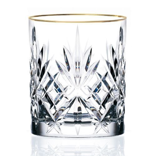 lorren-home-trends-siena-collection-crystal-double-old-fashion-beverage-glass-with-gold-band-design-