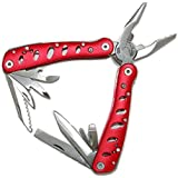 Multitool Deluxe Red-Multi Tool Pouch Folding Hand Tool, Multifunction, Multipurpose Survival Tool with Gift Box-Great Gift for Men