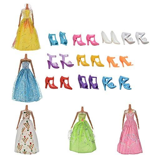 mini-estilos-5-piezas-vestidos-hecho-a-mano-con-10-pares-de-zapatos-para-barbie-munecas
