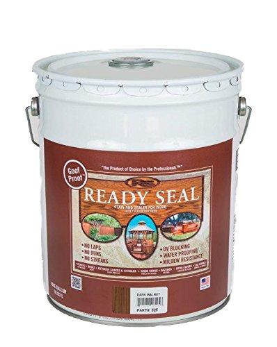 Ready Seal 525 5-Gallon Pail Dark Walnut Exterior Wood Stain and Sealer (Exterior Wood Sealer compare prices)