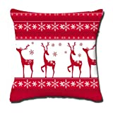 "Christmas Popular Throw Pillow-Cotton Linen Square Decorative Throw Pillow Case Cushion Cover Indian Art Fashion Reindeer Pillow Cover/Best Christmas Gifts for Your Friends/Pefect Size:18""x18 """