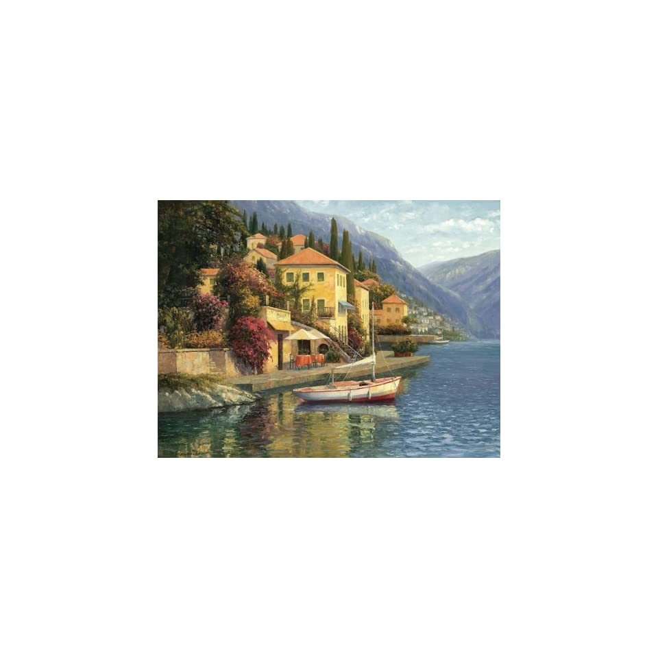 Lake Como Blossom, Gallery Wrapped Canvas