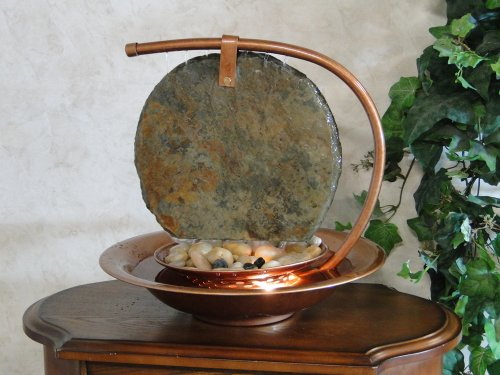 BluWorld Large Moonshadow Slate Tabletop Fountain