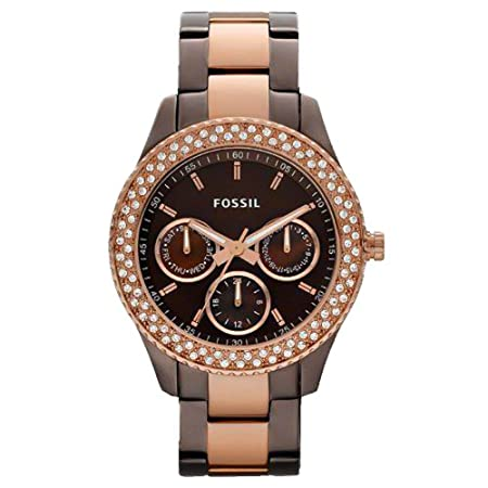 With our favorite new color combinationrich chocolate brown with pretty rose gold-tonethis stainless steel Stella watch is destined to become a classic. Case Size: 37mmCase Thickness: 10mmWater Resistant: 5 ATMWarranty: 11-year limited Origin: Import...