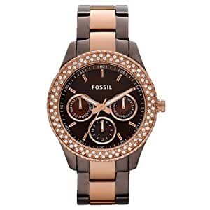 Fossil Women's ES2955 Stainless Steel Analog Brown Dial Watch