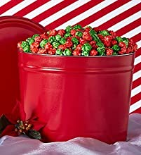 Christmas Simply Red Holiday Kettle Corn - 2 Gallon Tin