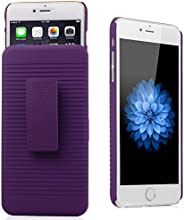 iXCC ® Ascend Series [Kickstand] Slim Hard PC Shell [Heavy Duty] Full Body Protection Slidable Cover Case [ Anti drop, Anti scratch, Anti slip, Anti shock ] with Kick-Stand Feature for Hands-Free Video Watching and Holster clip swivel for iPhone 6 Plus (5.5-inch) [purple]