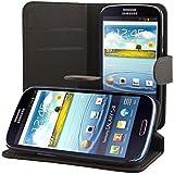 ECENCE Samsung Galaxy S3 i9300 S3 Neo i9301 Custodia a Portafoglio Protettiva wallet case cover + protezione dello schermo incluso nero 31030104