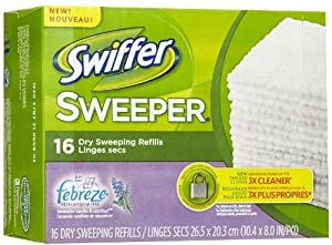 Swiffer Sweeper Dry Disposable Sweeping Cloths, Lavender and Vanilla Scent - 16 Ea