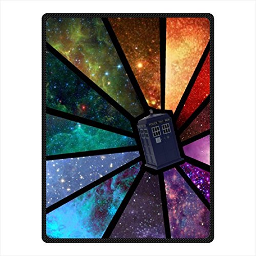 "HS@AK Custom Doctor Who TARDIS Throw Blanket with Standard Size 58"" x 80"" (Large)"