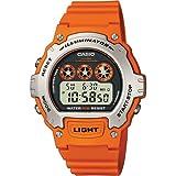 Casio カシオ Men's W-214H-4AVCF クロノグラフ オレンジ Watch 男性用 メンズ 腕時計 (並行輸入)
