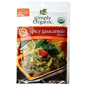 Simply Organic Spicy Guacamole Dip Certified Organic from Simply Organic